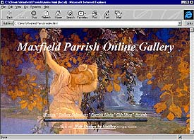 Maxfield Parrish Online Gallery. web site front page